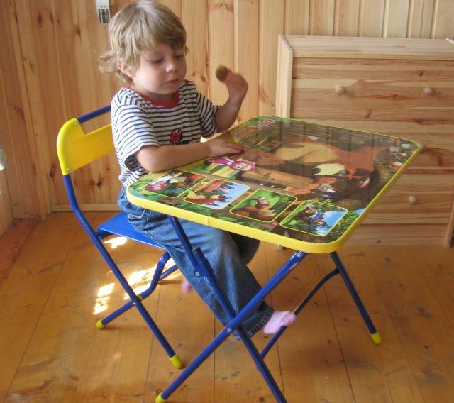 комплект детской мебели умничка маша и медведь позвони мне