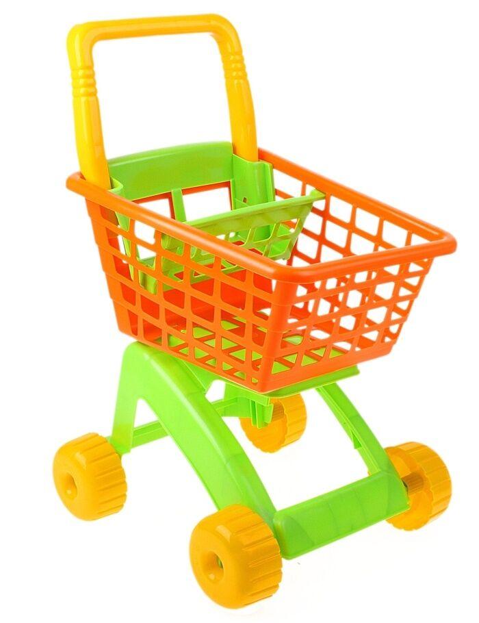 Детская игрушечная тележка футер нежно желтый