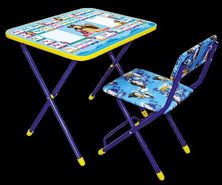 складной детский стол познайка с рисунком маша и медведь азбука 2