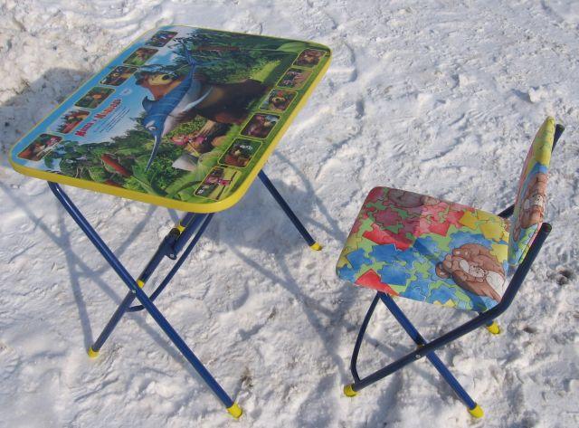 детский столик и стульчик маша и медведь ловись рыбка родные игрушки