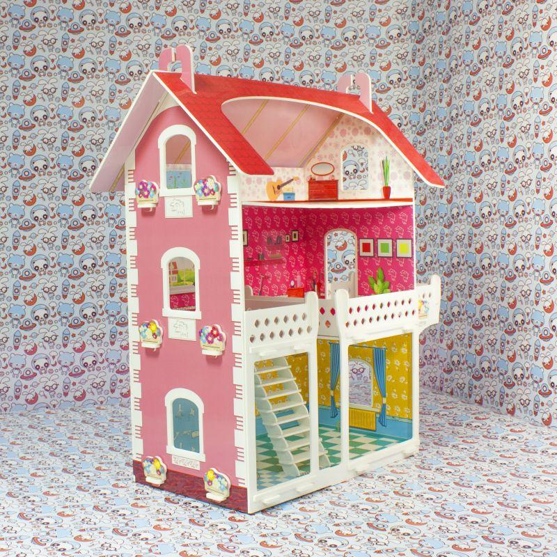 Кукольный домик с балконом - родные игрушки.
