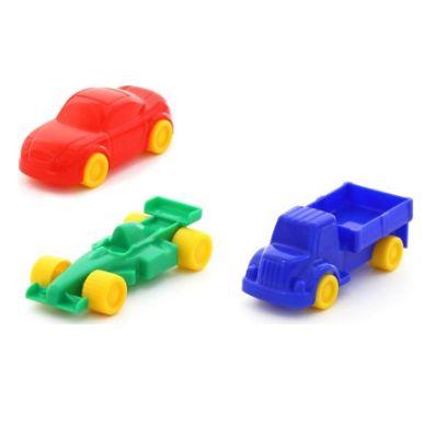 Набор детских пластмассовых машинок для гаража-паркинга