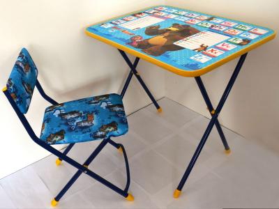 детский складной стол со стулом познайка маша и медведь английская